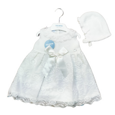 Juliana 2021 Baby Girls Ivory Lace Special Occassion Dress