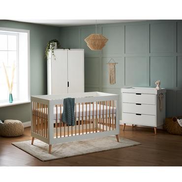 OBaby Scandi Style 3 Piece Nursery Furniture Set Maya