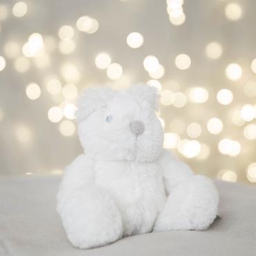 Bambino White Bear Newborn Baby First Teddy Bear - 18cm Medium