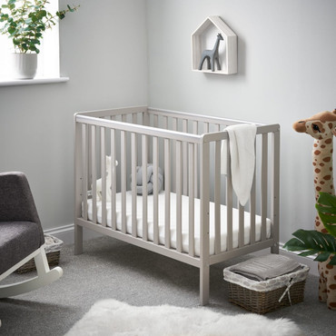 OBaby Bantam Space Saver Cot in Warm Grey