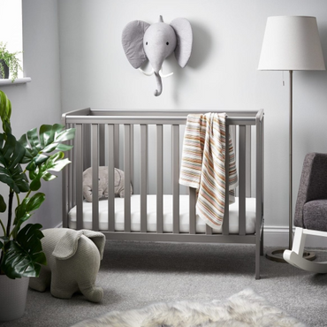 OBaby Bantam Space Saver Cot in Taupe grey