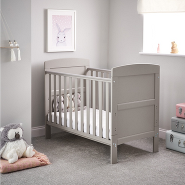 OBaby Grace Warm Grey Mini Cot Bed
