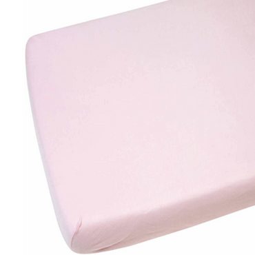 Cot Bed Fitted Sheets 100% Pink Cotton