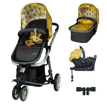 Cosatto Giggle Quad 3 in 1 Travel System Premium RAC I-Size Isofix Bundle - Spot The Birdie