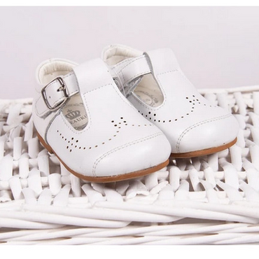 Johnathan Boys Shoes in White Leather