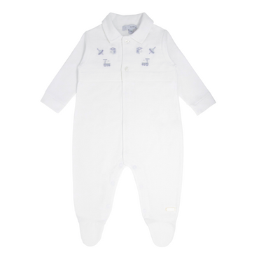 Blues Babywear Unisex Baby Romper with Embroidered Toys