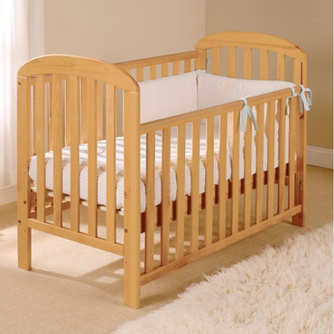 Dropside Cot - Anna in Antique Wood + Free Sprung Mattress worth £49.99