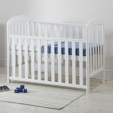Dropside Cot - Anna in White + Free Sprung Mattress worth £49.99