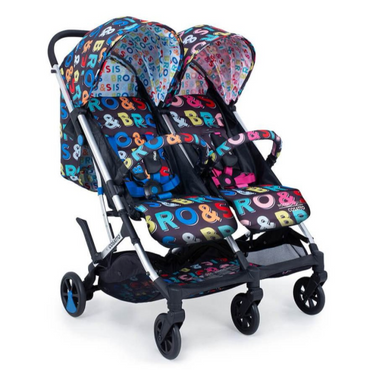 Cosatto Woosh Double Stroller - Bro & Sis - Brother & Sister Double Stroller