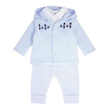 Blues Baby Wear Little Soldiers Baby Blue Tracksuit 3 piece Set