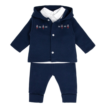Blues Baby Wear Little Soldiers Navy Tracksuit 3 piece Set