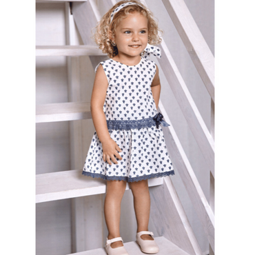 Juliana 2021 Baby Girls Spanish Dropwaist Turtle Print Dress
