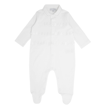 Blues Baby Wear Teddy Romper in White