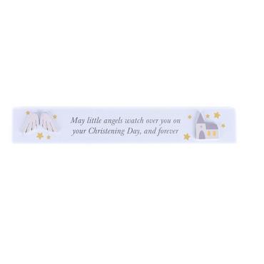 Hello Baby Mantel Plaque - Christening Plaque