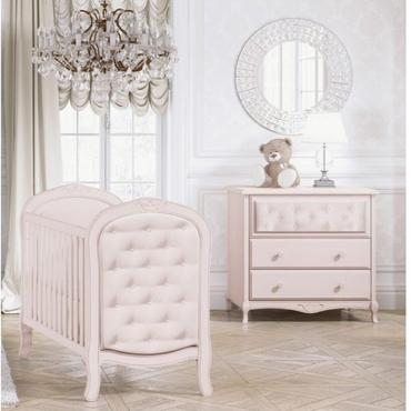 Bebecar Trama 2 Piece Luxury Nursery Furniture Set in Pink