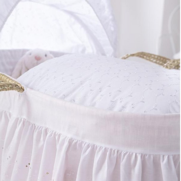 White Broderie Anglaise Moses Basket