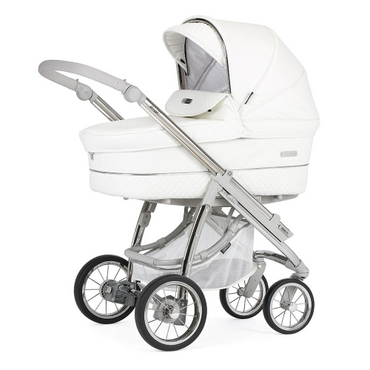 Bebecar Ip-Op White Delight Travel System - New 2021 Lie Flat Car Seat