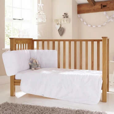 Clair De Lune Broderie Anglasie Cot and Cot Bed Bedding Set
