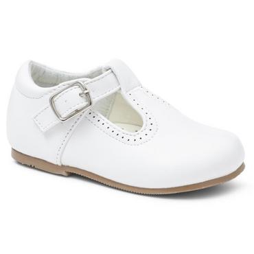 White Matt Classic Walking Shoe