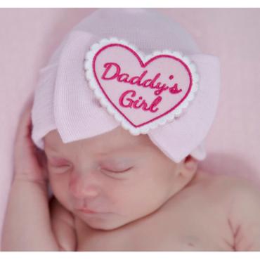 Baby Girls Newborn Hospital Hat - Daddy's Girl