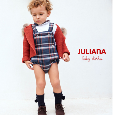 Juliana Blue Checked Outfit with Long Sleeved Shirt