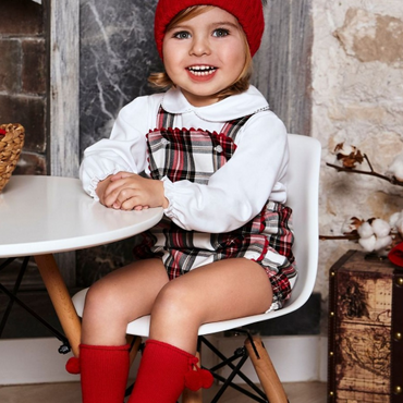 Juliana Red & White Checked Outfit