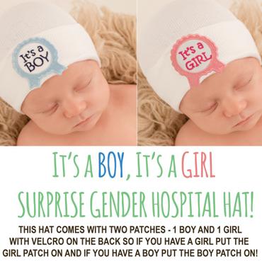 Baby Newborn Hospital Hat - Surprise Gender