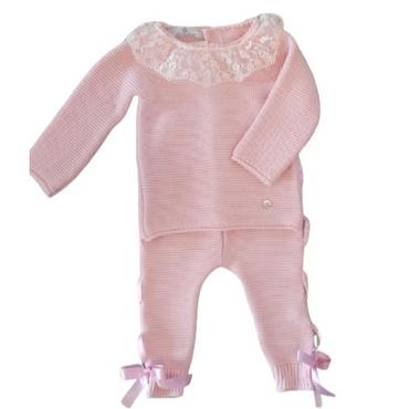 Beau Kid Designer Knitted Baby Set - Pink