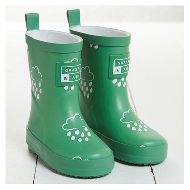 Grass + Air infant wellies - jade green