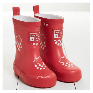 Grass + Air infant wellies - red