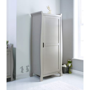 OBaby Stamford Single Sleigh Wardrobe - Warm grey