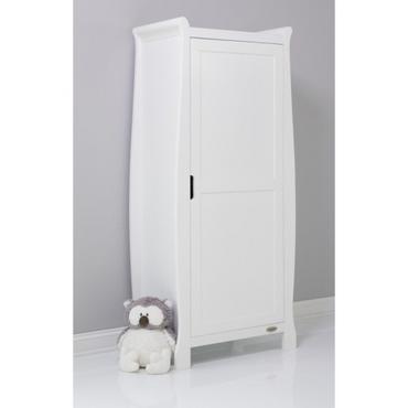 OBaby Stamford Single Sleigh Wardrobe - White