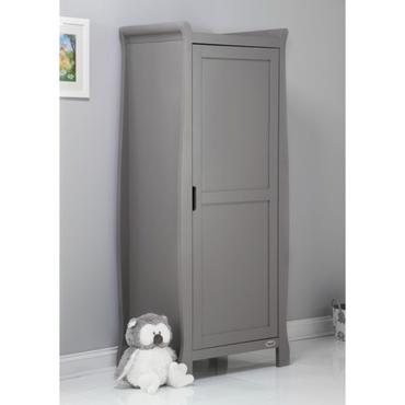 OBaby Stamford Single Sleigh Wardrobe - Taupe Grey