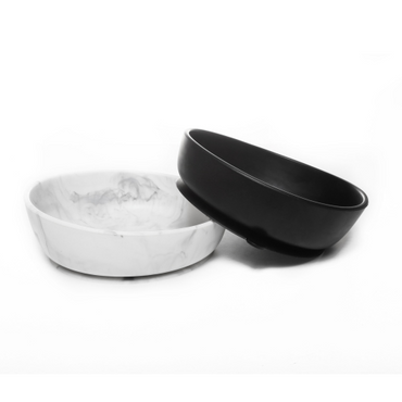 Baby Silcone Suction Bowls Set of 2 - Black & Marble