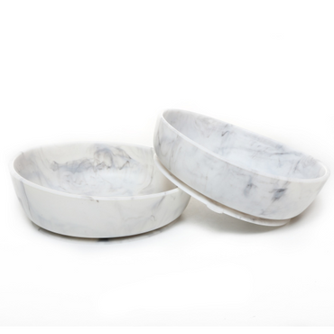 Baby Silcone Suction Bowls Set of 2 - Marble