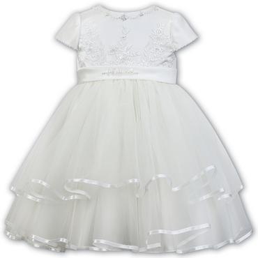 Sarah Louise Ivory Tulle Layered Dress - Maya
