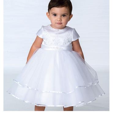Sarah Louise White Tulle Layered Dress - Maya