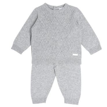 Grey Diamond Knit 2 Piece Set