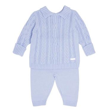 Baby Blue Knit 2 Piece Set