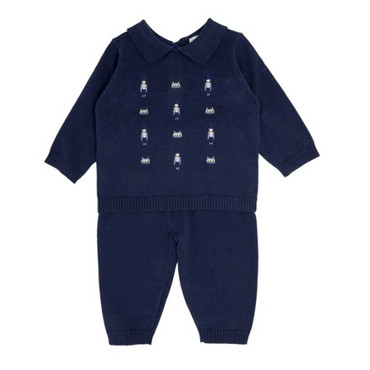 Navy Baby Boys Soldier Knit