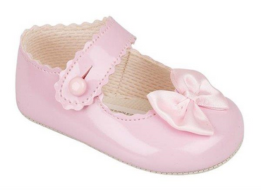 Baypod Pink baby soft soled shoes