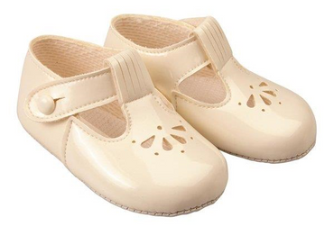 Baypod Soft Soled Classic Ivory Baby Shoes