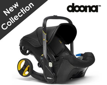 Black Doona Infant Car Seat Stroller 2 in 1 - New Nitro Black