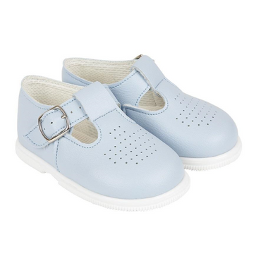 Hard soled Baypod sky blue T bar shoes
