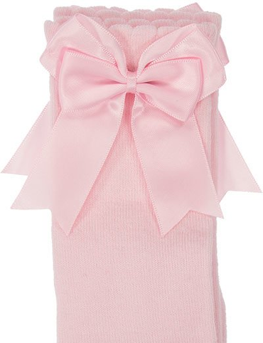 Knee High Knee High Baby Pink double Bow Socks