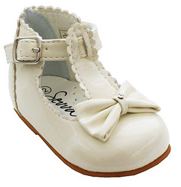 Sally Cream shoes by Sevva - Baby girls ivory baby shoes