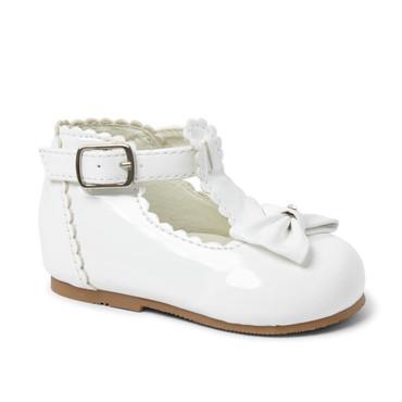 Sally Sevva shoe white baby girls white toddler shoe