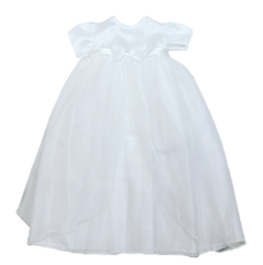 Sparkle Long White Christening Gown