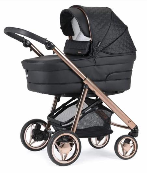 Bebecar V Pack Rose Gold black travel system