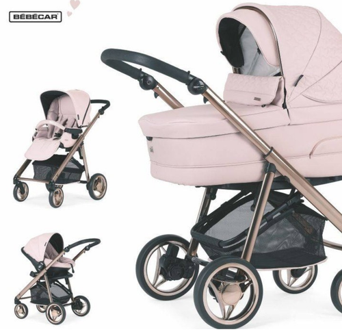bebecar v pack Pink Rose opal 3 in 1 travel system new 2020